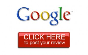 Google logo above red button with white text click here to post your review